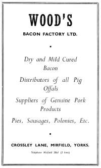 Woods Bacon Factory
