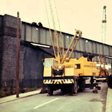 Removing the railway bridge at Doctor Lane