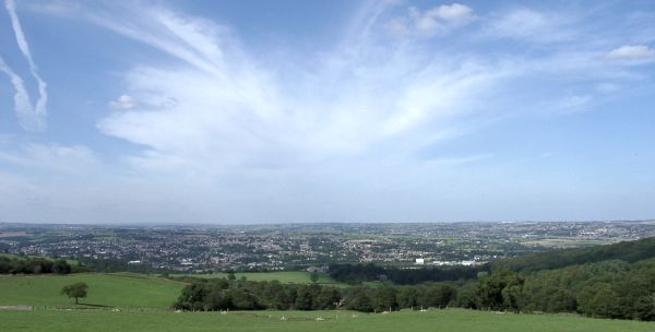 View over Mirfield