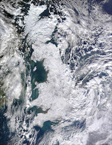 Snow covers all of the UK
